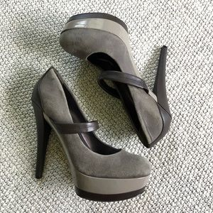 Jessica Simpson Suede & Leather Heels